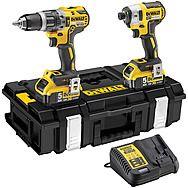 DeWalt DCK266P2 18v Brushless DCF887 Impact Driver & DCD796 Combi Drill Twinpack 2 x 5.0Ah Batteries