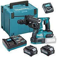Makita HR004GD203 40Vmax XGT SDS Plus Rotary Hammer Drill With Quick Change Chuck & 2 x 2.5Ah Batteries