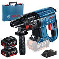 Bosch GBH 18V-21 18v Cordless SDS+ Rotary Hammer Drill 2 x 4.0Ah Batteries