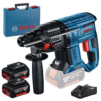 Picture of Bosch GBH 18V-21 18v Cordless SDS+ Rotary Hammer Drill 2 x 4.0Ah Batteries