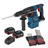Bosch GBH18V-26F 18V Cordless SDS Plus Rotary Hammer Drill 2 x 6.0Ah Batteries