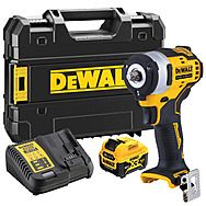 "DeWalt DCF903P1 12v XR 3/8"" Impact Wrench & 5.0Ah Battery"