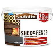 Sadolin 10L Shed & Fence All Weather Barrier Woodstain Treatment