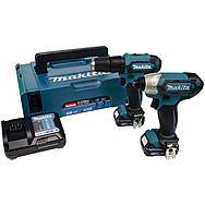 Makita CLX228AJ 12v Impact Driver & Combi Drill Twin Pack 2 x 2.0Ah Batteries