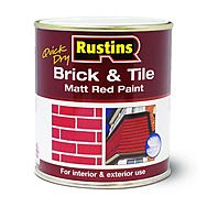 Rustins Red Brick & Tile Paint Quick Dry 500ml