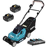 Makita DLM382CT2 Lawnmower 36v (2x18v) 38cm Lawn Mower With 2 x 5.0Ah Batteries