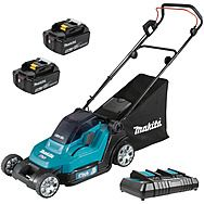 Makita DLM432CT2 Lawnmower 36v (2x18v) 43cm Lawn Mower With 2 x 5.0Ah Batteries