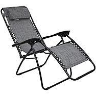 Zero Gravity Reclining Chair Garden Seat Lounger Textoline