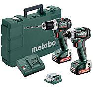 Metabo COMBO SET 2.7.3 12 V BL PowerMaxx Impact Driver & Drill 2 x 2.0Ah 12v Batteries   685168000