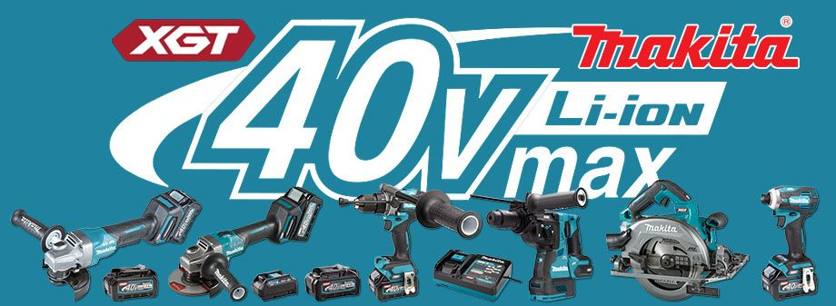 The new Makita 40Vmax range