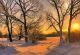 Sonnenuntergang im Winter bei Klings