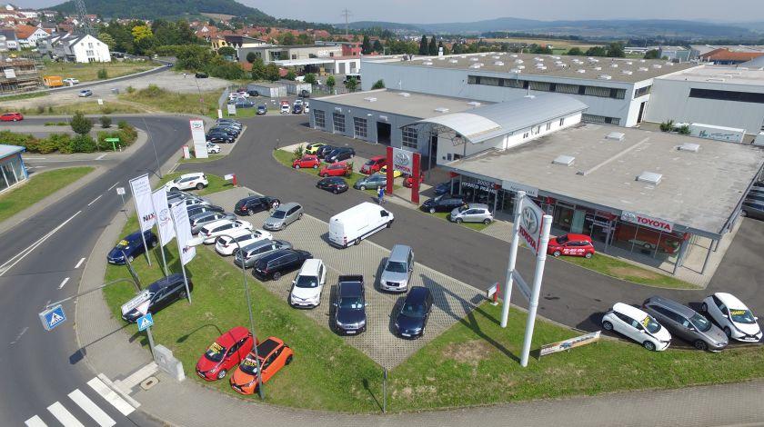 Autohaus NIX Luftaufnahme