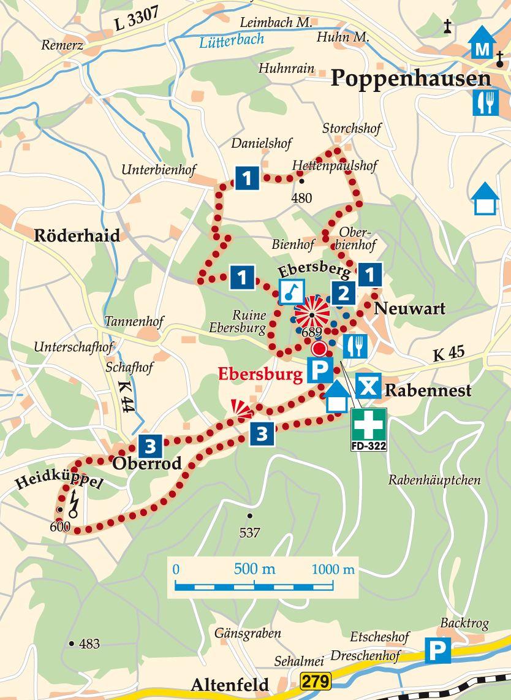 Rhön-Rundweg 2 Ebersburg Karte