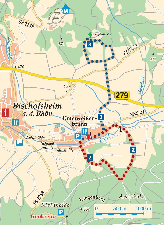 Rhön-Rundweg 3 Unterweißenbrunn Karte