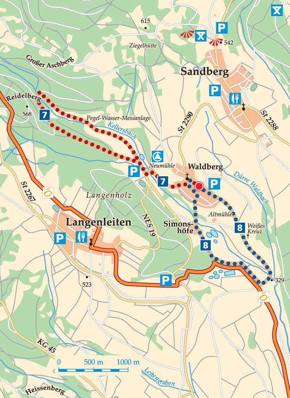 Rhön-Rundweg 8 Walddörfer Karte