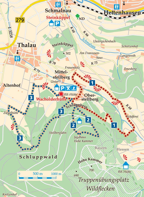 Rhön-Rundweg 3 Wacholderhütte Karte
