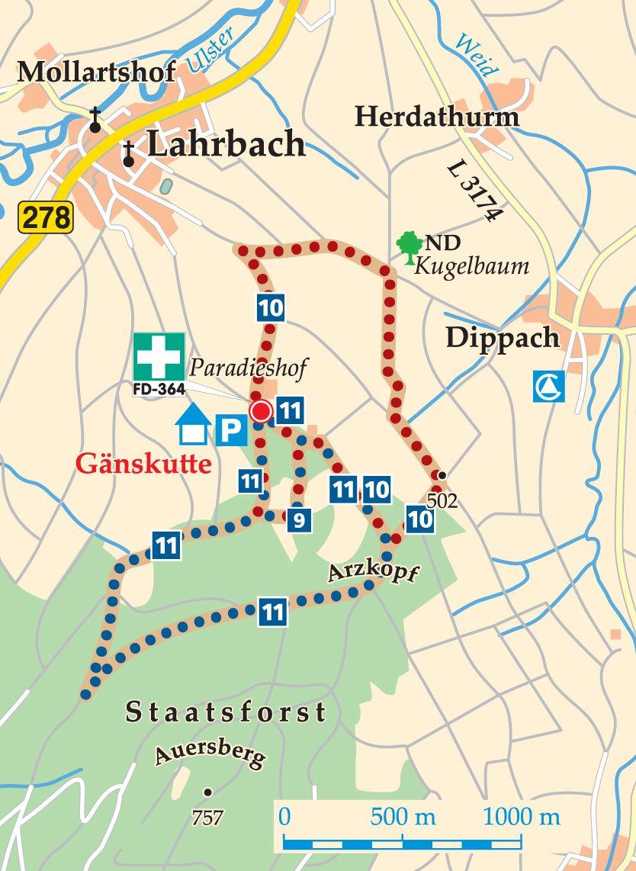 Rhön-Rundweg 11 Tann (Rhön) Karte