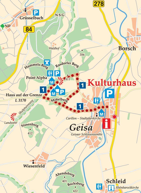 Rhön-Rundweg 1 Geisa Karte