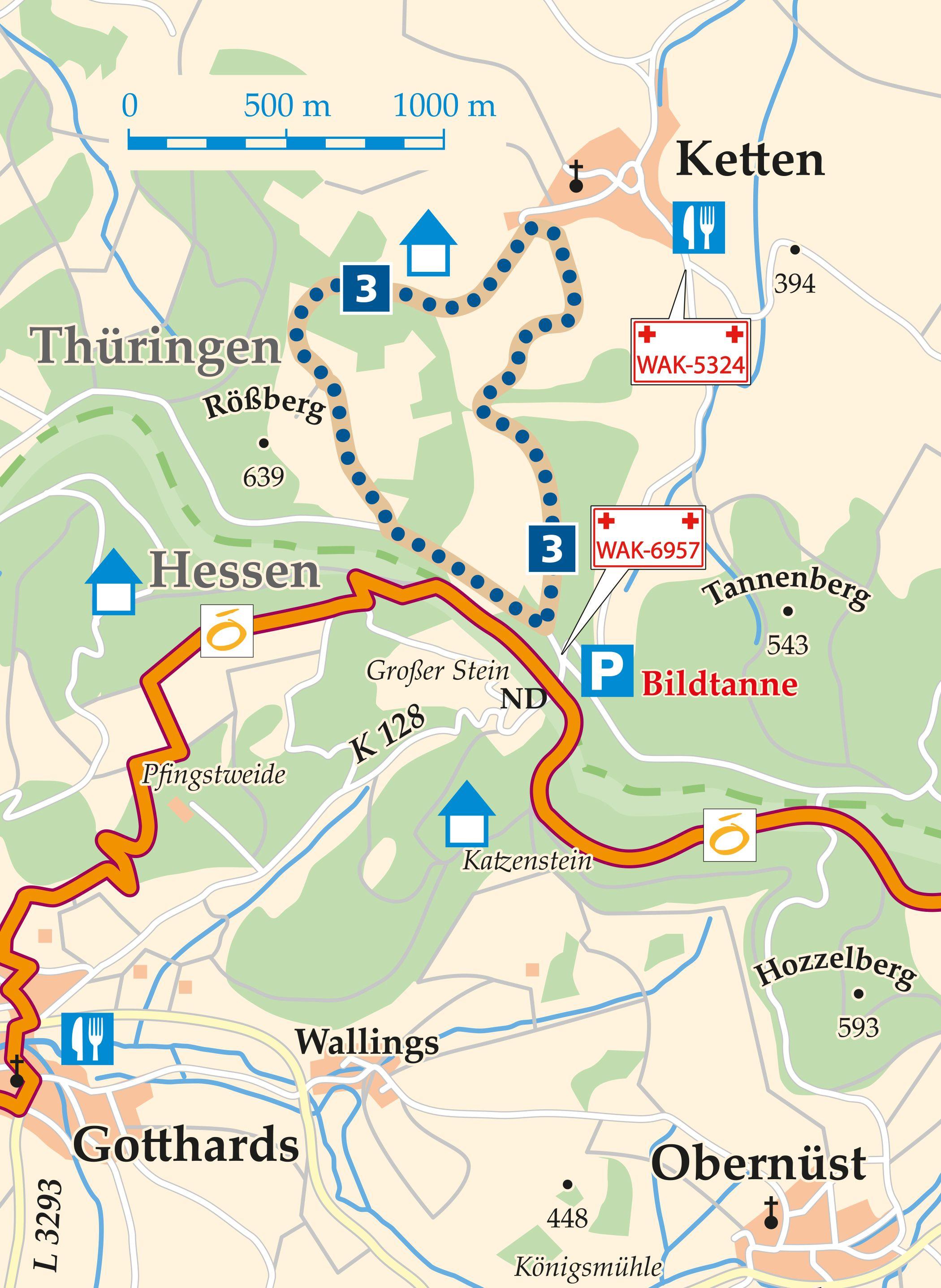 Rhön-Rundweg 3 Geisa Karte