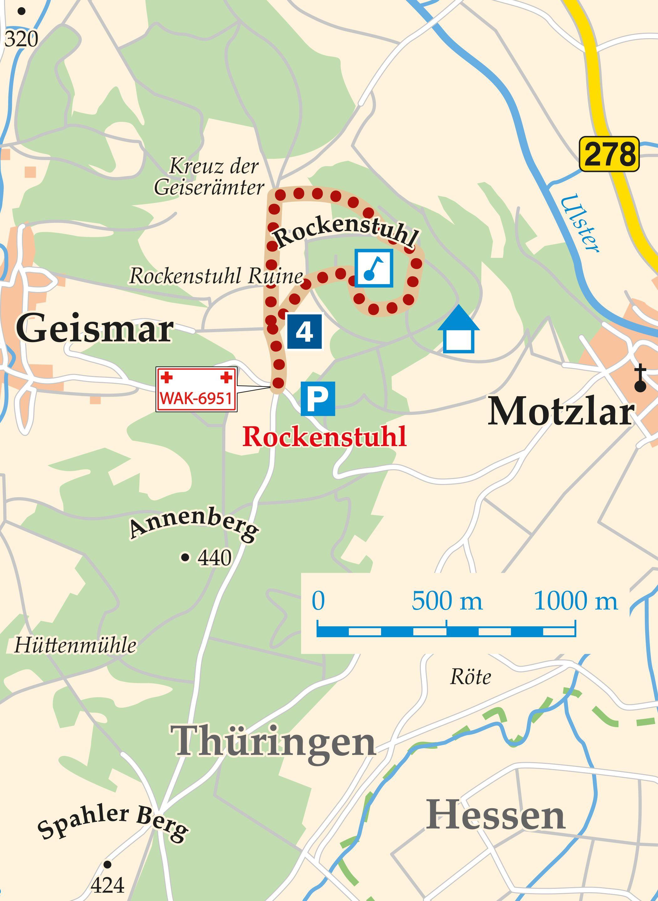 Rhön-Rundweg 4 Geisa Karte