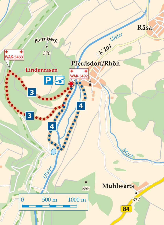 Rhön-Rundweg 3 Unterbreizbach Karte
