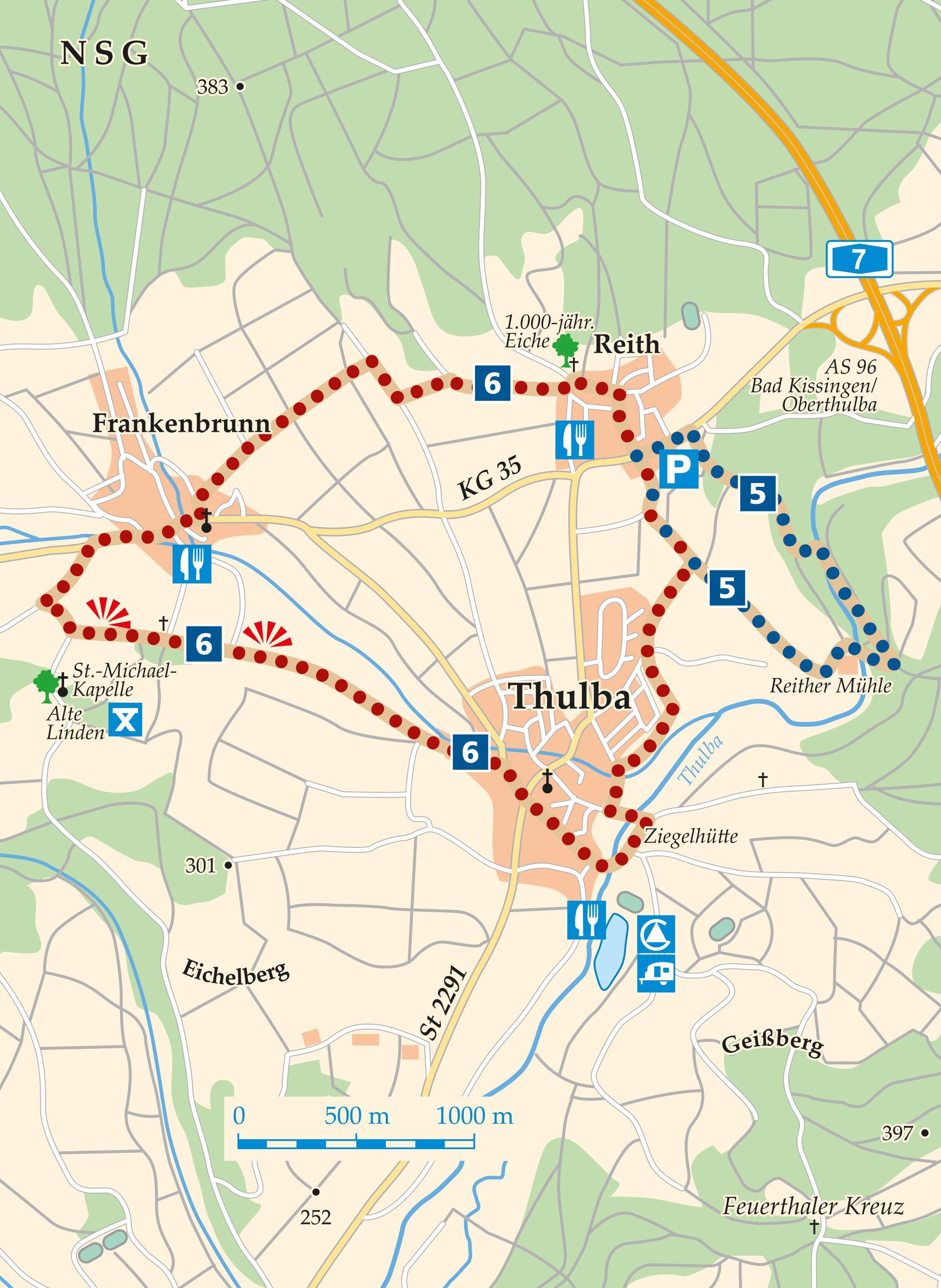Rhön-Rundweg 6 Oberthulba Reith