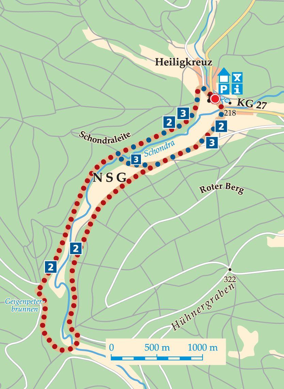 Rhön-Rundweg 2 Wartmannsroth Karte
