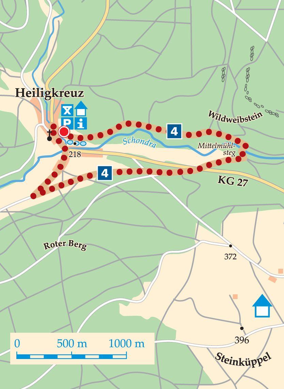 Rhön-Runweg 4 Wartmannsroth Karte