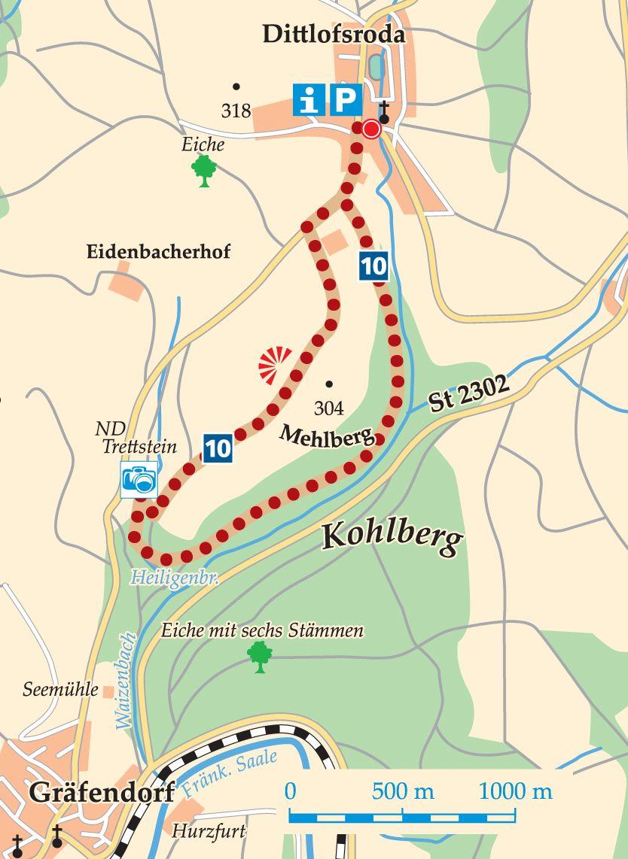 Rhön-Rundweg 10 Wartmannsroth Kart