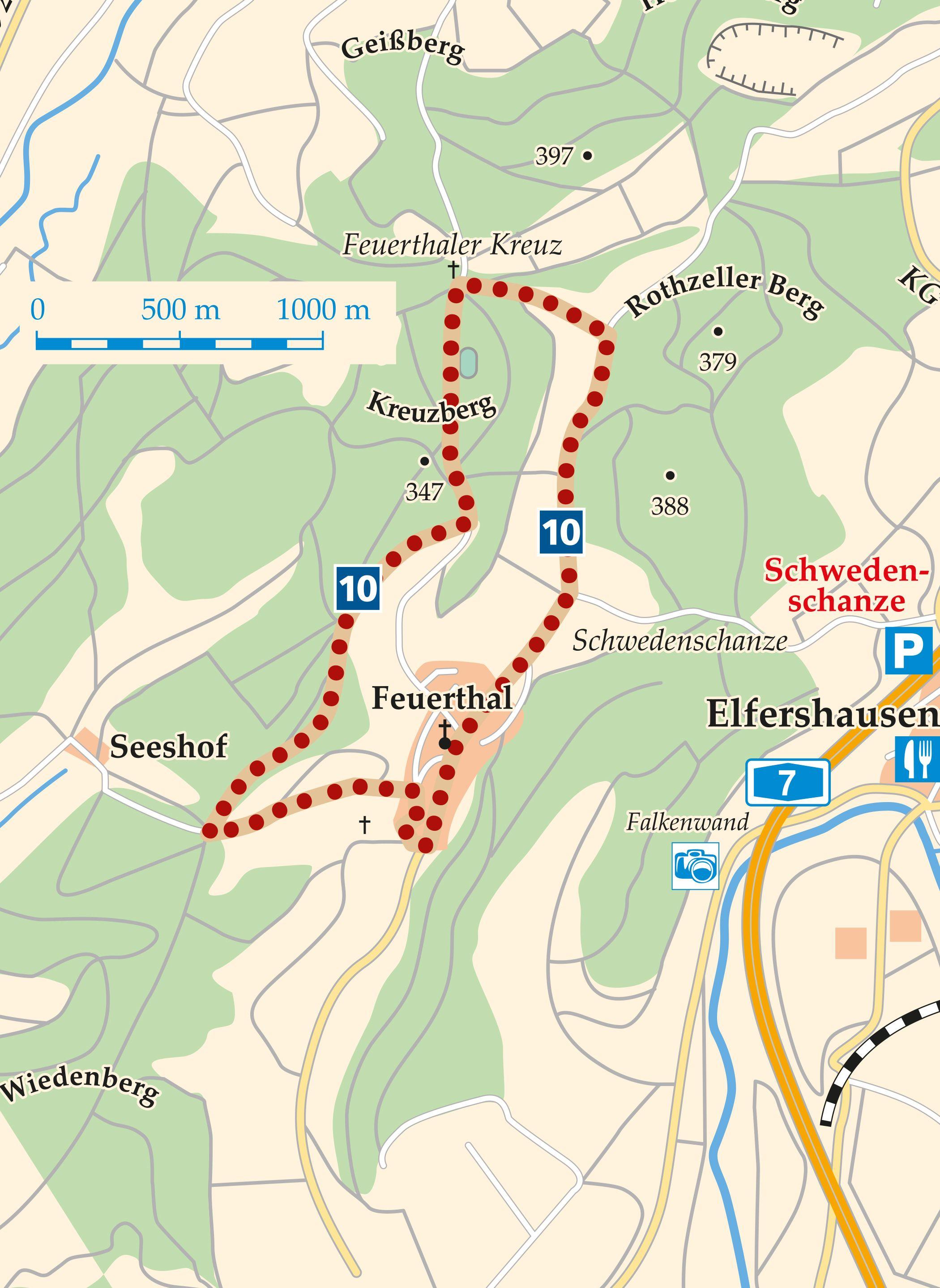 Rhön-Rundweg 10 Hammelburg Karte
