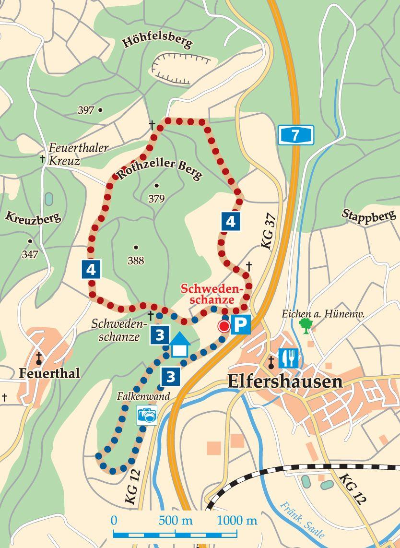 Rhön-Rundweg 3 Elfershausen Karte