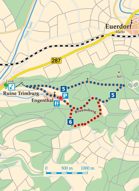 Rhön-Rundweg 5 Elfershausen Karte