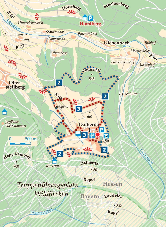 Rhön-Rundweg 3 Dalherda Karte