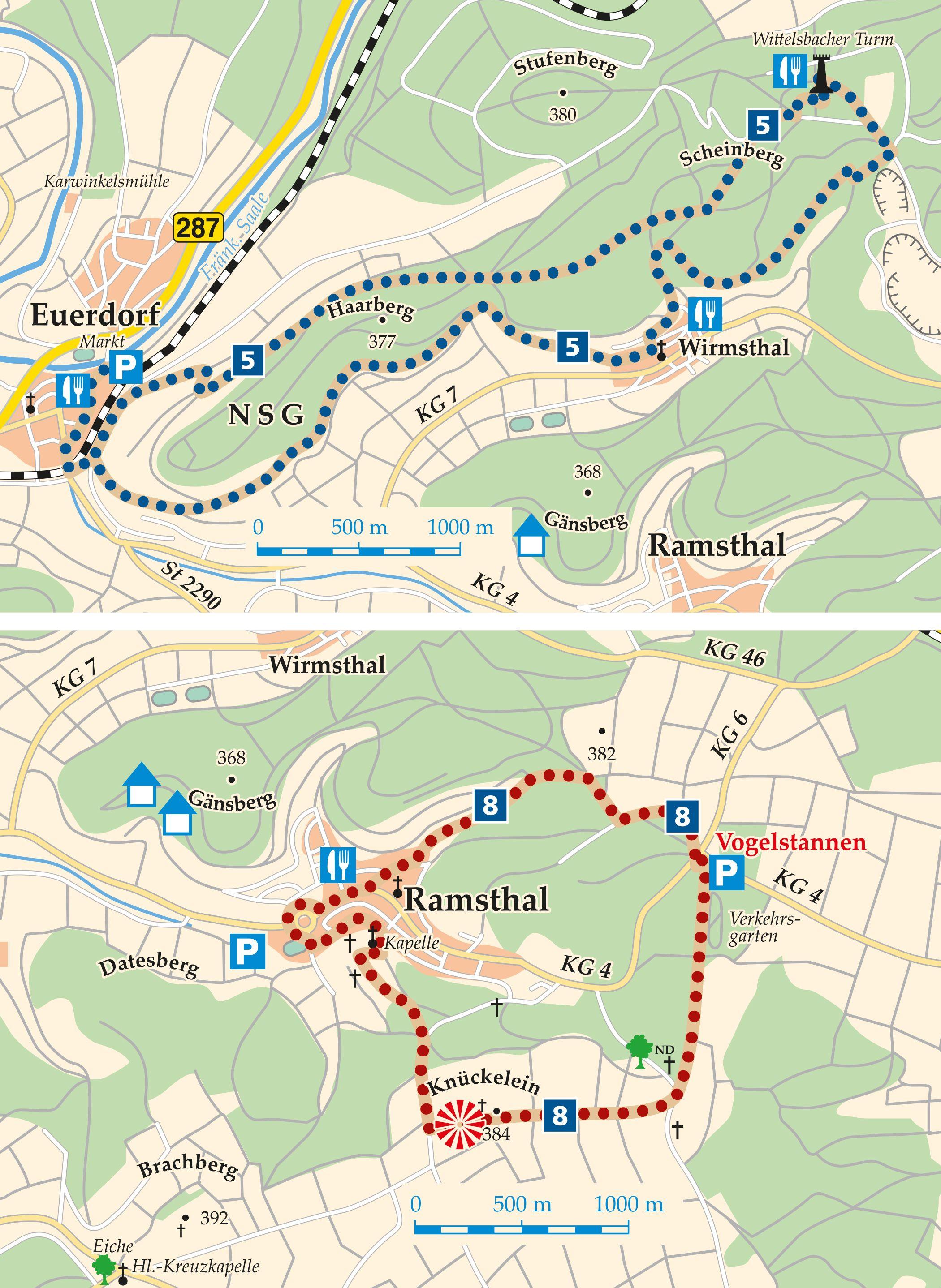 Rhön-Rundweg 8 Saaletal Karte