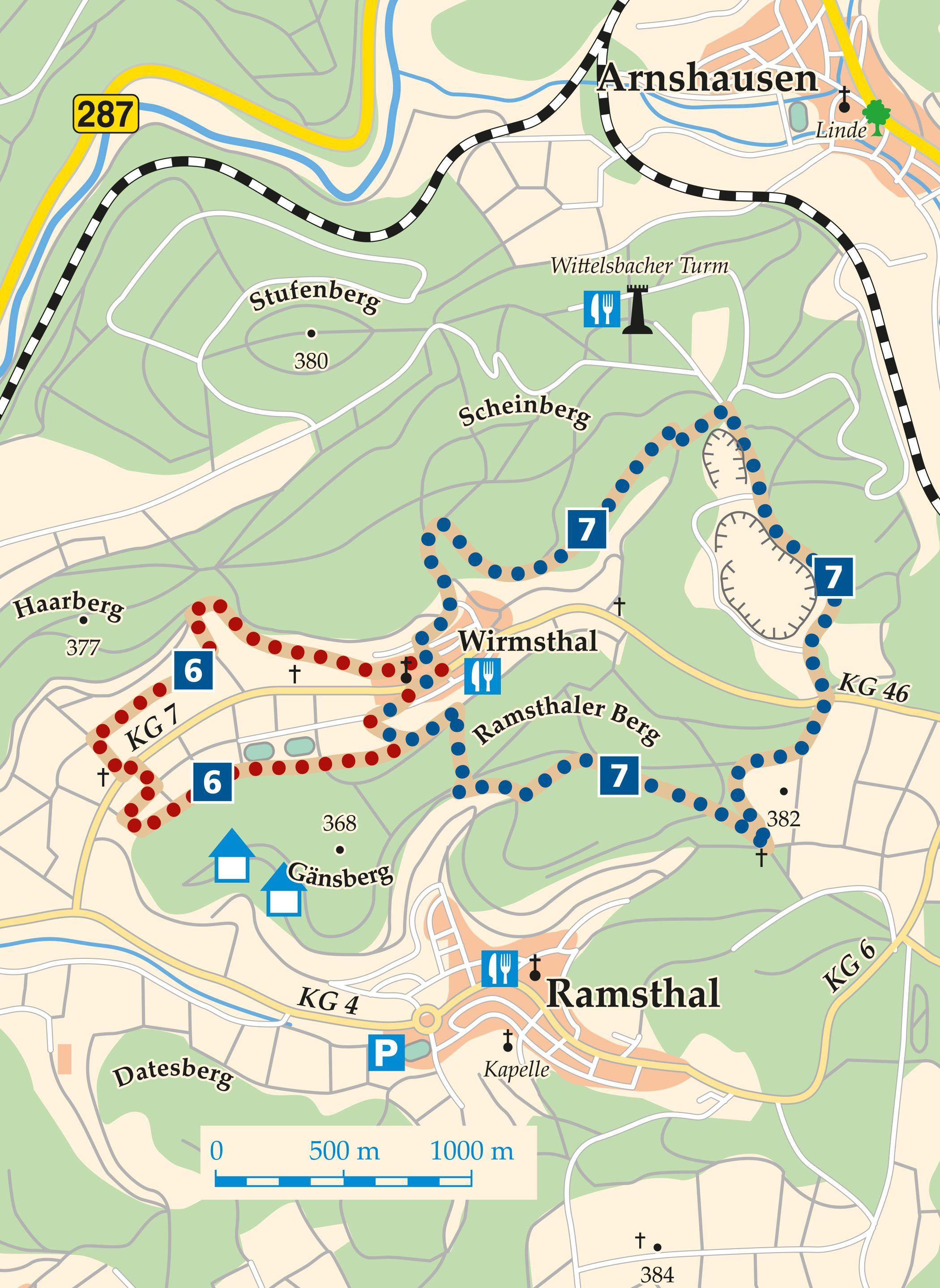 Rhön-Rundweg 6 Saaletal Karte