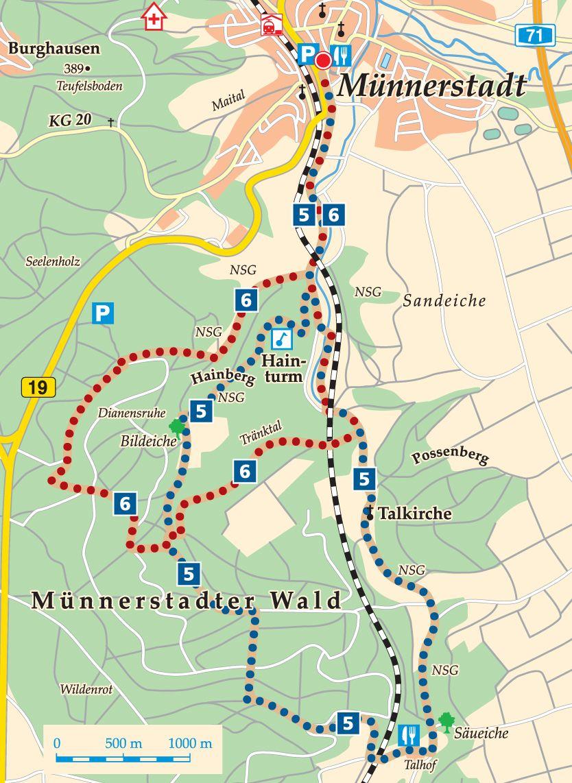 Rhön-Rundweg 5 Münnerstadt Karte