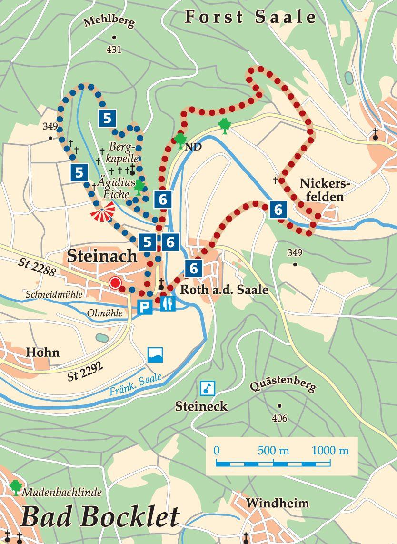 Rhön-Rundweg 6 Bad Bocklet Karte