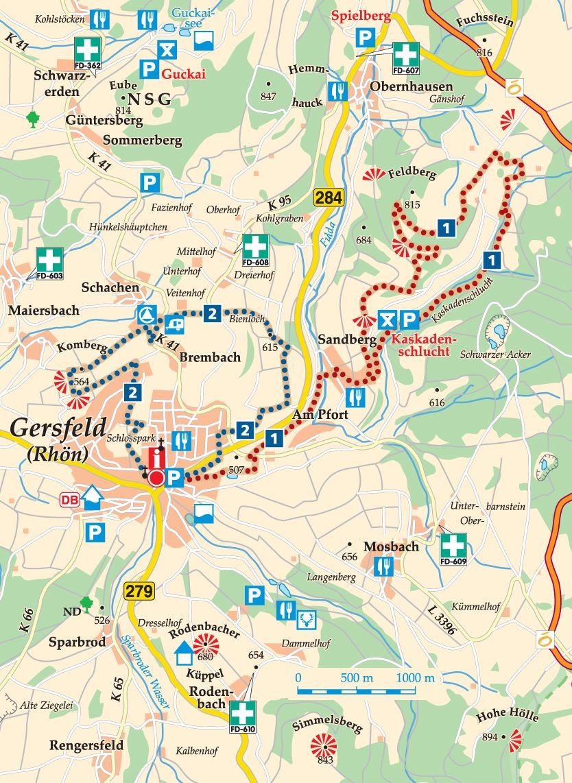 Rhön-Rundweg 1 Gersfeld Karte