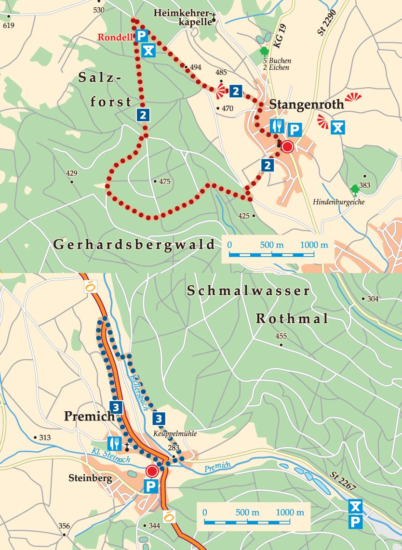 Rhön-Rundweg 3 Burkardroth Karte
