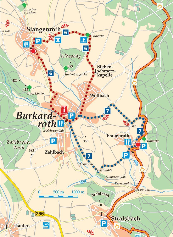 Rhön-Rundweg 7 Burkardroth Karte