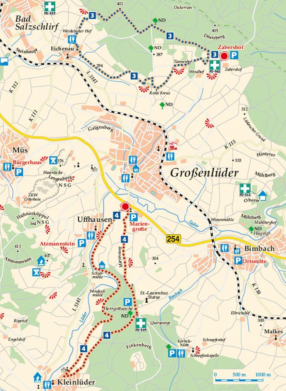 Rhön-Rundweg 4 Großenlüder Karte