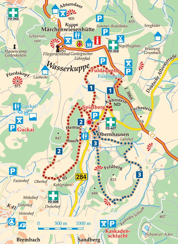 Rhön-Rundweg 2 Spielberg Karte
