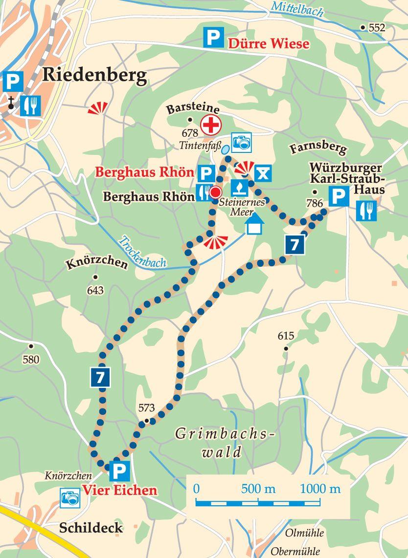Rhön-Rundweg 7 Schwarze Berge Karte