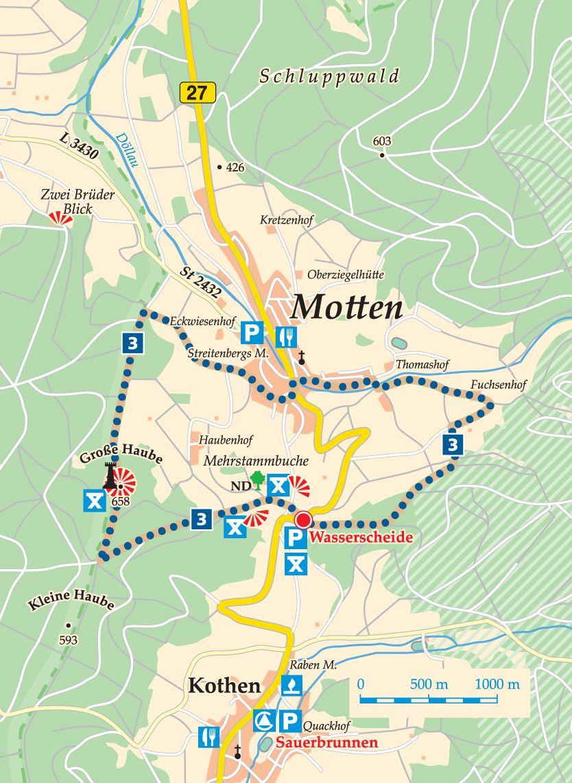 Rhön-Rundweg 3 Motten Karte