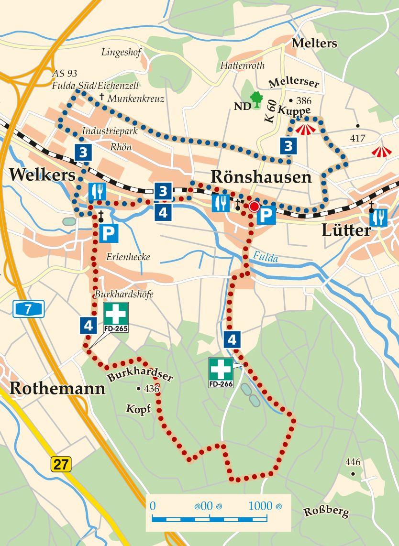 Rhön-Rundweg 4 Eichenzell Karte