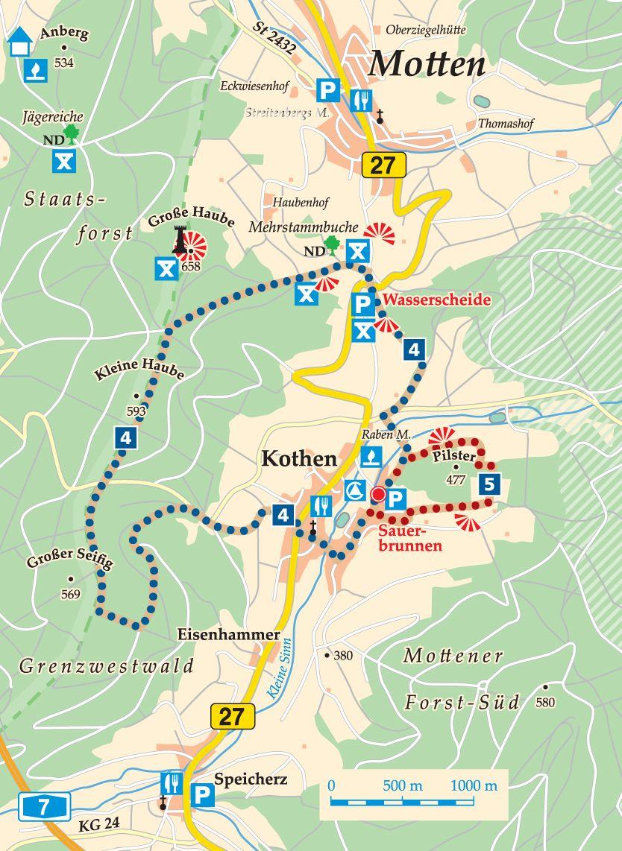 Rhön-Rundweg 5 Motten Karte