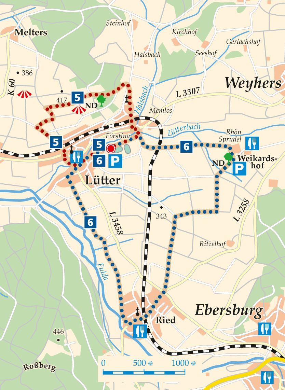 Rhön-Rundweg 6 Eichenzell Karte