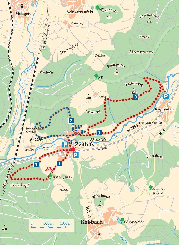 Rhön-Rundweg 1 Sinntal Karte