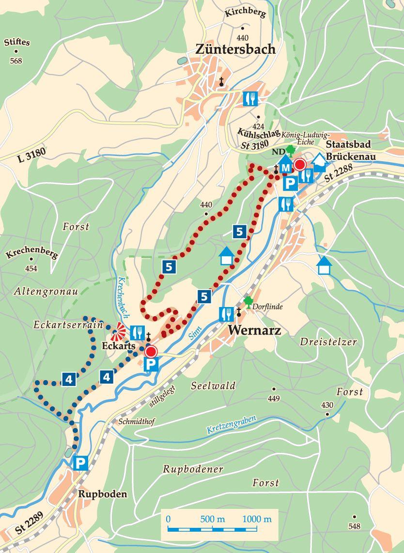 Rhön-Rundweg 5 Sinntal Karte