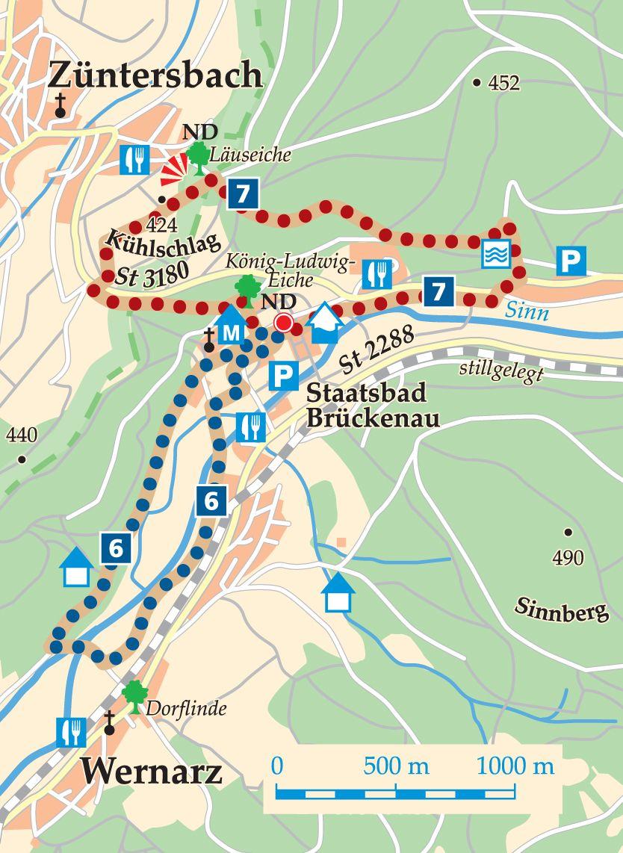 Rhön-Rundweg 6 Sinntal Karte